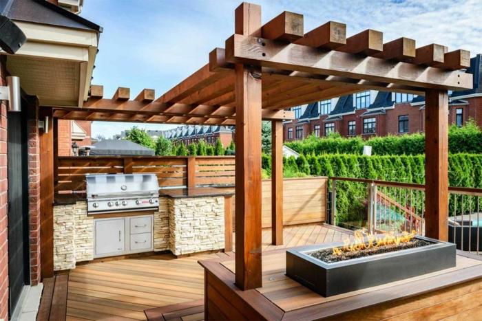 moderne terrassen gestaltungsmöglichkeiten, schlichtes aber effektvolles design, dach oder wohnterrasse