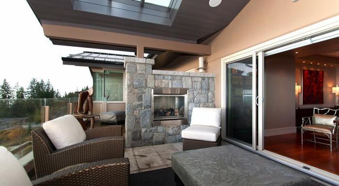 schöne garten terrasse idee wohnterrasse vom wohnzimmer gleich in die terrasse kommen luxus wohnen