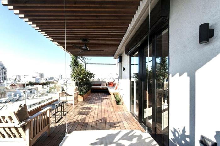 moderne garten terrasse, letzte trend, einrichtung, licht, natürliche beleuchtung der wohnung