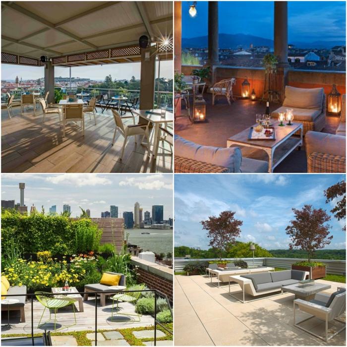 terrassen ideen noch vier bilder luxusterrasse als cafe gestalten, romantischer abend auf der terrasse, liegestühle