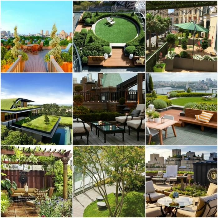 terrassen ideen neun schöne bilder auf einmal im zentrum sitzecke mit bequemen sessel grüne bepflanzung