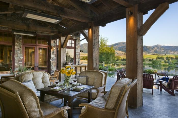 deko terrasse idee, schöne bilder von modernen terrassen, luxuseinrichtung, wohnterrasse