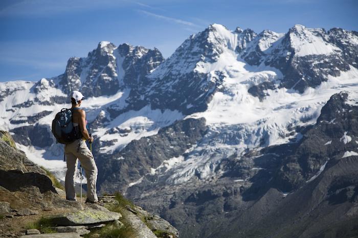 urlaub in den alpen, zillertaler alpen im sommer, wandern, freizeitsaktivitäten