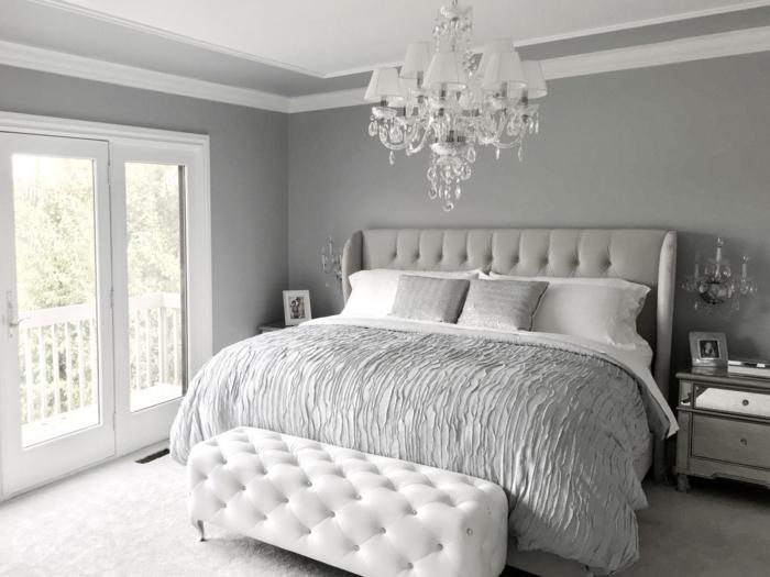 1001 ideen f r schlafzimmer grau gestalten zum entlehnen. Black Bedroom Furniture Sets. Home Design Ideas