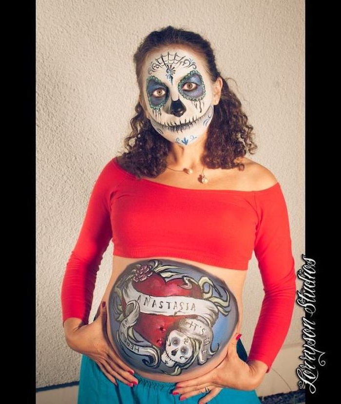Paint baby belly - unique pictures and ideas