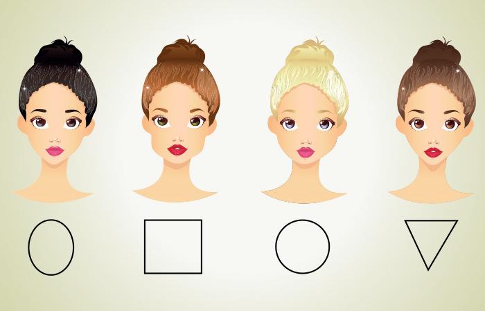 welcher haarschnitt passt zu mir, gesichtsform bestimmen, dutt frisuren, frauengesichter