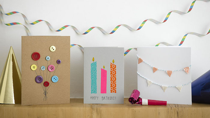 washi tape wanddeko, 95 ideas on how to make a creative birthday card | heandshelifestyle, Design ideen