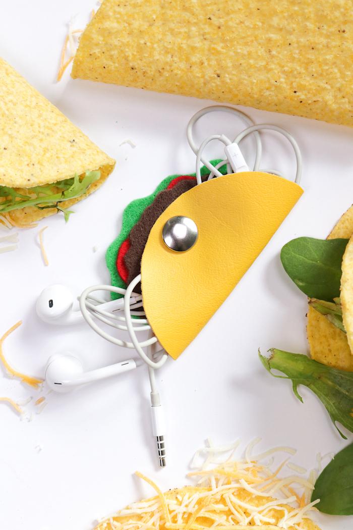 Taco Clutch selber basteln, kreative Bastelidee zum Nachmachen