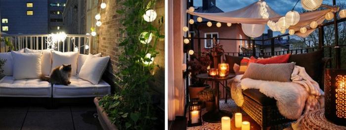 geburtstagsdeko kinder und erwachsene, schönes ambiente im garten oder auf der terrasse, karze auf dem sofa