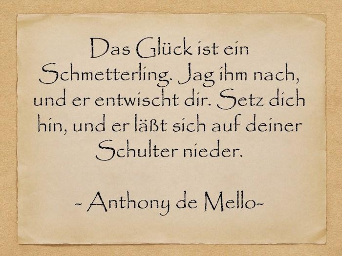 schöne geburtstagswünsche, ein bild mit einem gelben alten blatt papier mit einem zitat von anthony de mello