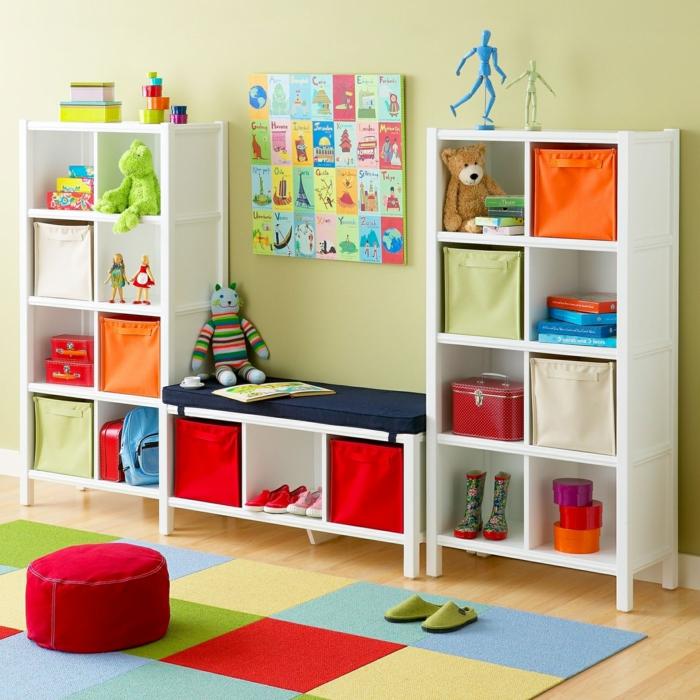 Viel Abstellraum in einem kleinen Kinderzimmer, Kinderzimmer Ideen für kleine Räume