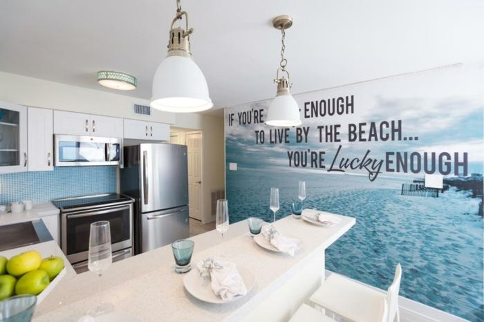 Träumen Sie von einem Strandhaus, besorgen Sie soches Wandtattoo Küche