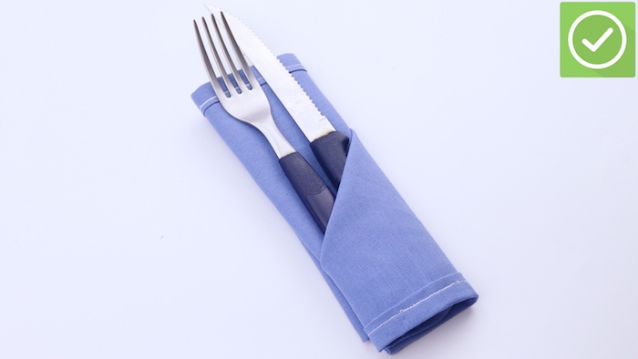 Folded cutlery bag - different techniques and great pictures