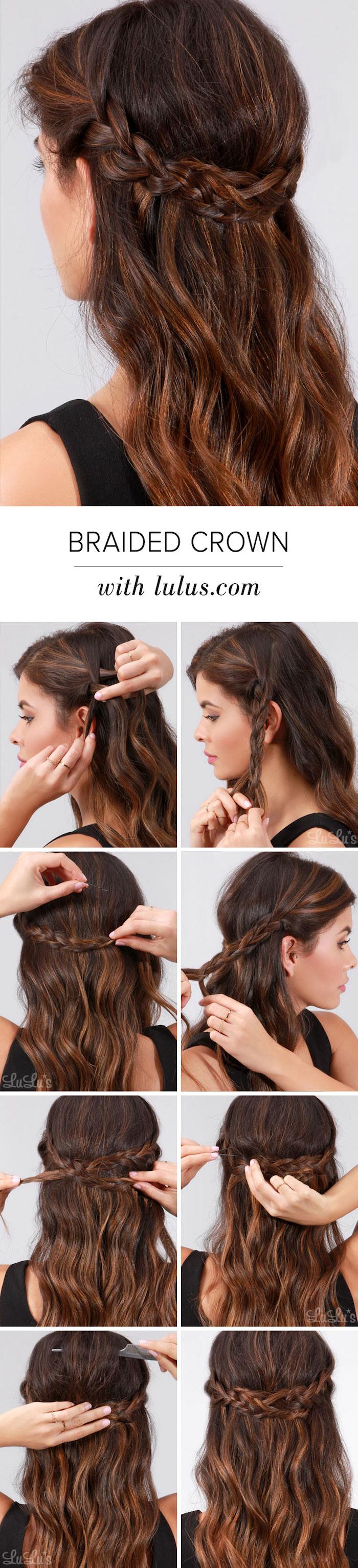 einfache frisuren für den alltag, braune lockige haare stylen, alltagsfrisur mit zopf, damenfrisuren