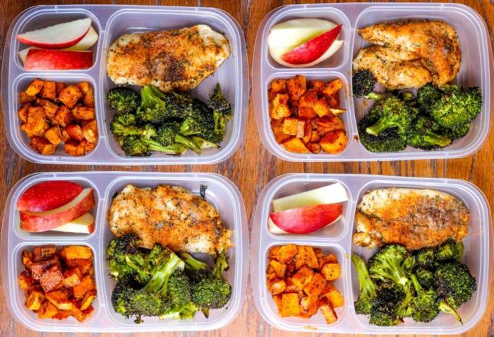 abendessen low carb, das essen vorbereiten und in kästen acken ideen für fitness begeisterte,