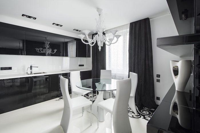 wandgestaltung mit farbe grau, schwarz oder weiß ist klasse, klassisches design zu hause