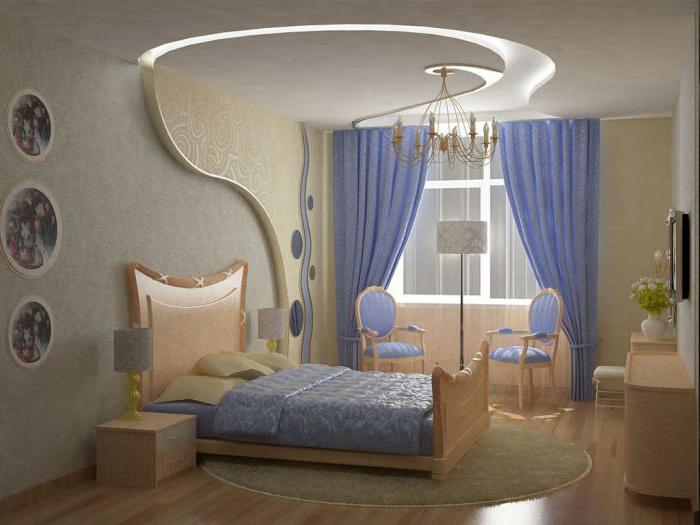 schlafzimmer farben, hellblau und beige, farbgestaltung ideen im modernen feng shui zimmer
