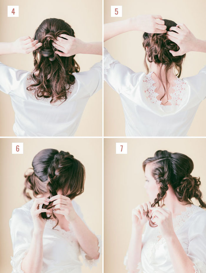 festliche frisuren halblange haare, haare hochstecken, hochzeitsfrisur selber machen, brautfrisur tutorial