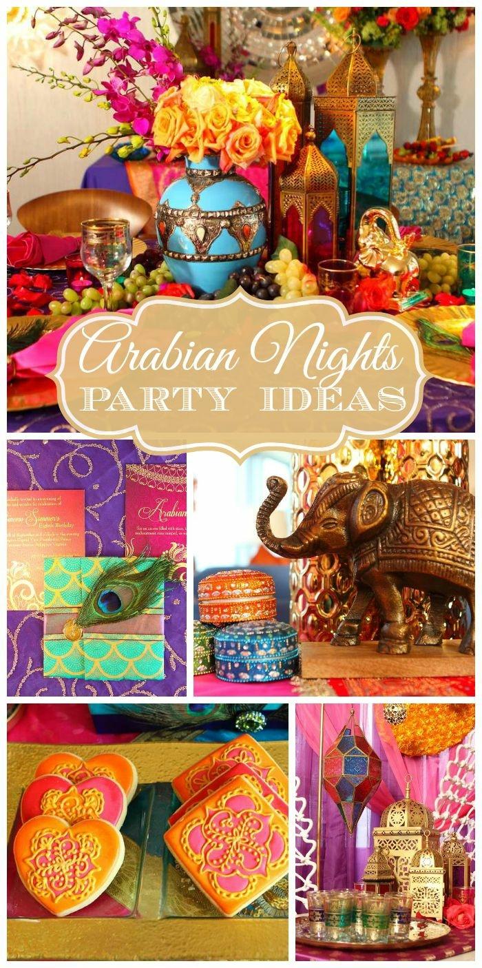 indische party deko, bunte farben, kekse, muffins. elefant als glücksbringer und dekorationsfigur