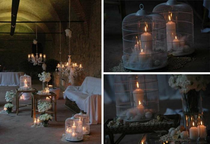 deko für 40 geburtstag, kerzen, blumen, romantisches ambiente für zwei, wein und champagner trinken und genießen
