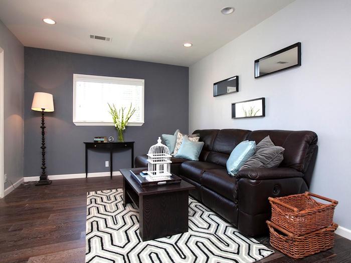 welche farben passen zusammen, zum grauen passen fast alle farben, dunkelbraun, braun, beige, weiß kleines wohnzimmer einrichten