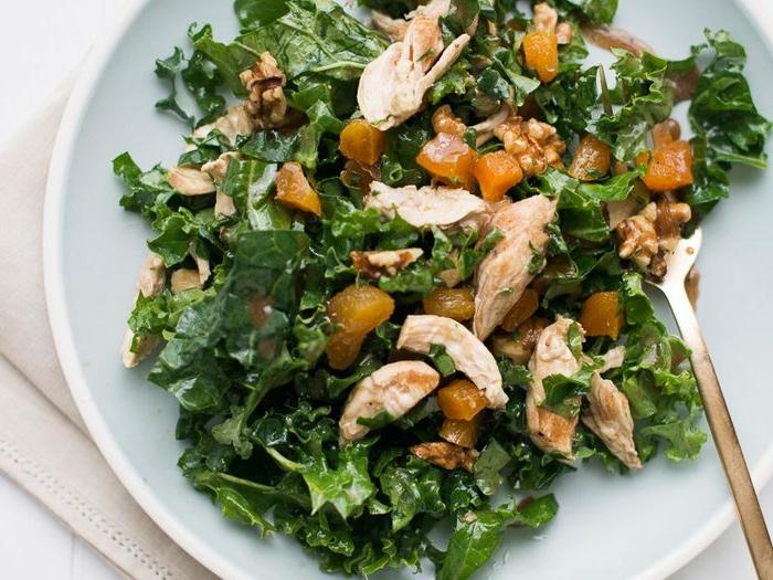 Partysalat schnell und lecker, Fleischsalat und Mandarinen, ganz säftig