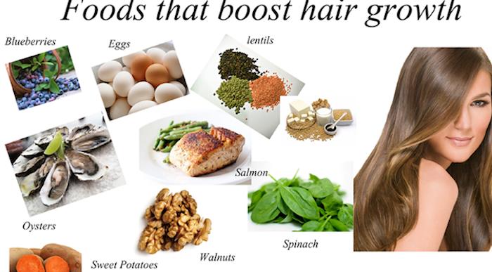 haarwuchs beschleunigen, nahrungsmitteln für schnelles haarwachstum, eier, blaubeeren, süße kartoffeln