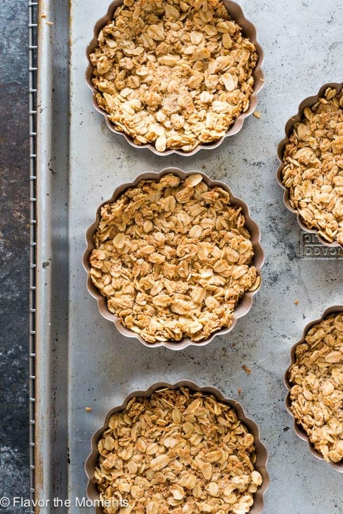 schnelle low carb rezepte, so sollen die kleine müsli tarts aussehen ideen