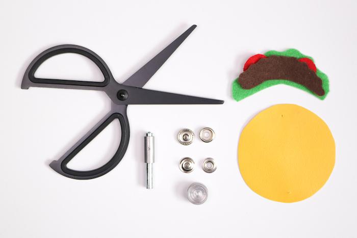 Taco Clutch selber basteln, Materialien dazu, coole Idee für DIY Liebhaber