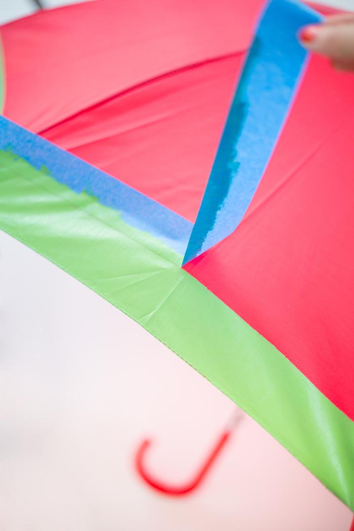 Wassermelone Regenschirm selbst gestalten, DIY Anleitung in drei Schritten