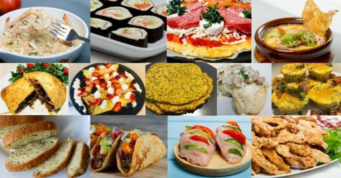 gerichte ohne kohlenhydrate, viele rezepte auf einmal, gesund lecker, sushi, eier, fleisch.low carb