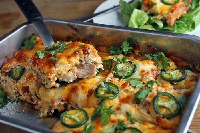 gesunde rezepte abendessen, lasagne ohne pasta, sondern mit fleisch und paprika