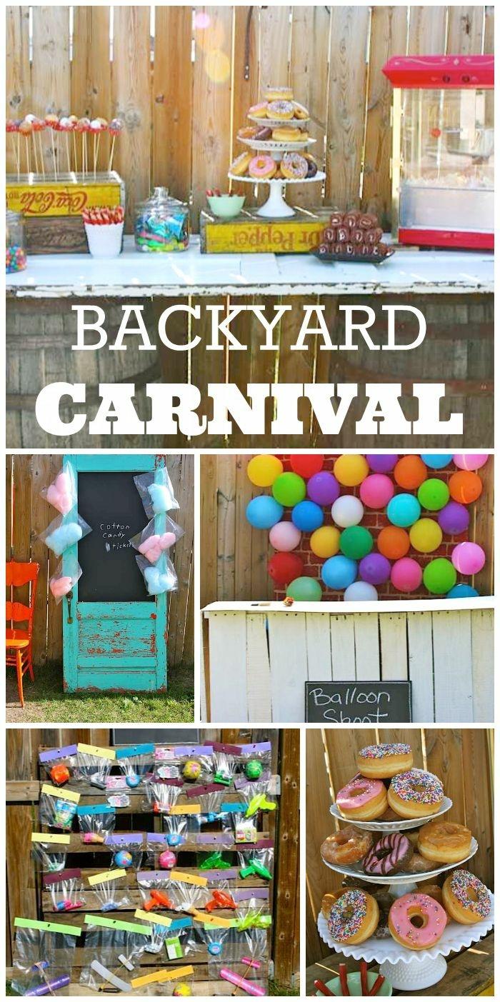 18 geburtstag deko im garten, motivparty selber veranstalten und dekorieren, carnival idee mit vielen baloons