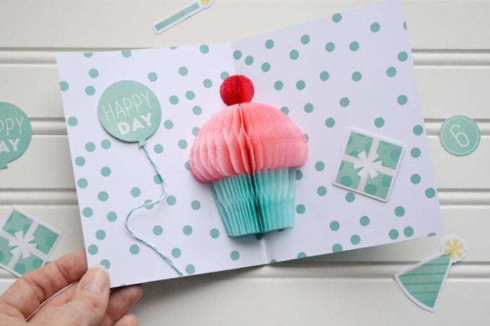1001 ideen wie sie eine geburtstagskarte basteln. Black Bedroom Furniture Sets. Home Design Ideas