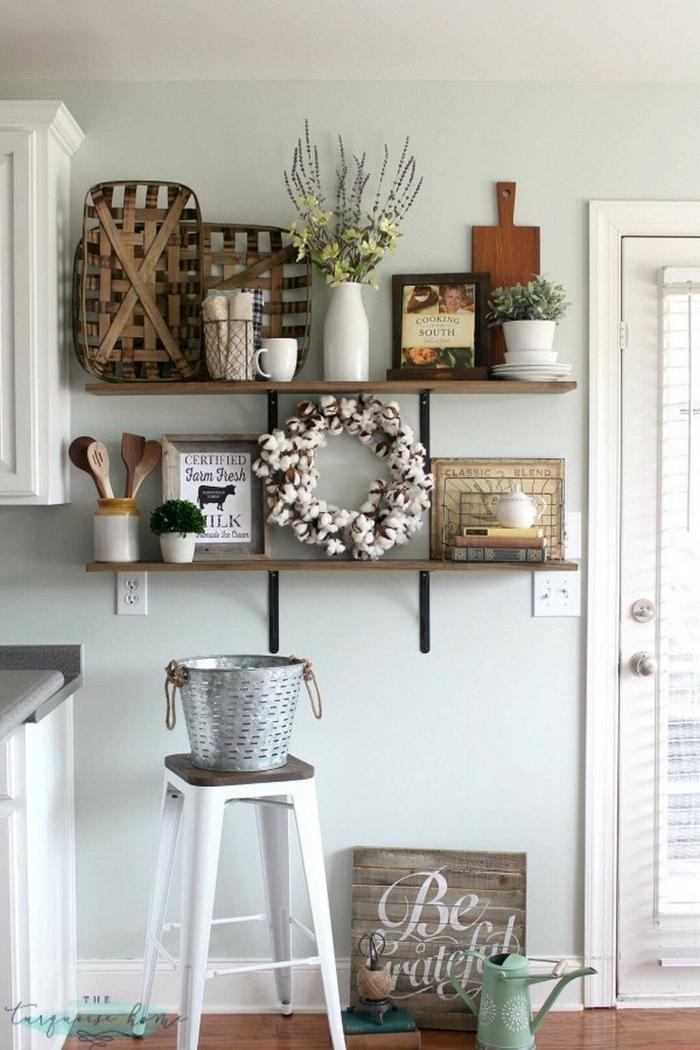 bildschöne Wandgestaltung Ideen selber machen, selbst gebastelte Dekorationen in der Küche