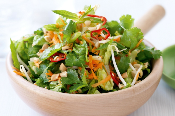 Healthy salads - a must on the table