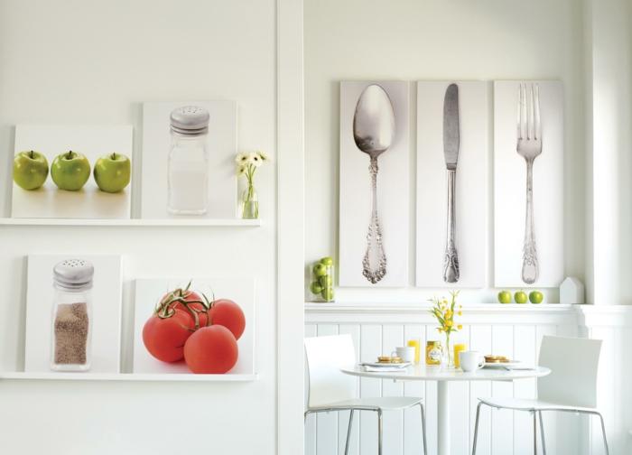 drücken Sie Küchenbilder aus und dekorieren damit, Wandgestaltung Ideen selber machen