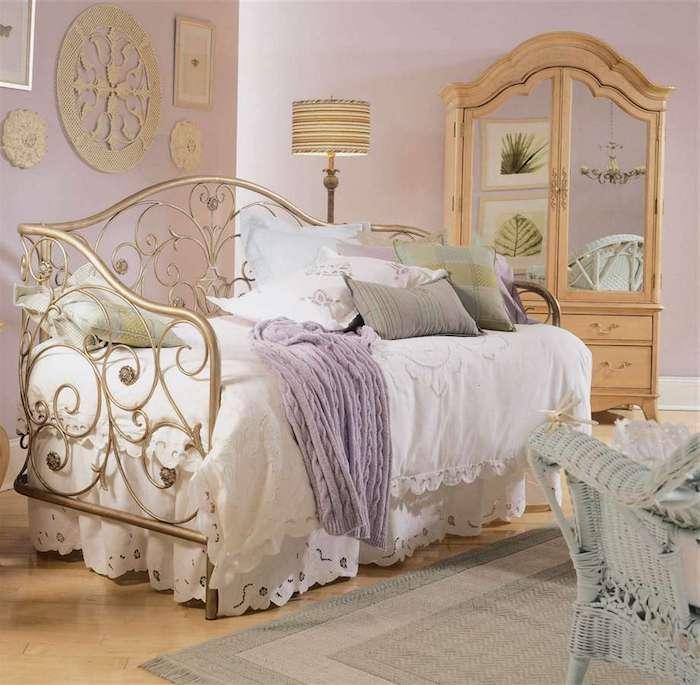 schöne schlafzimmer in vintage stil, shabby zimmer, designerideen zum nachmachen