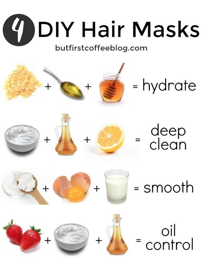 schnelleres haarwachstum, 4 rezepte für diy haarkuren aus natürlichen zutaten, haarkur für jedes haartyp