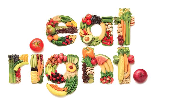 schnelleres haarwachstum, gesund essen, buchstaben aus obst und gemüse, gesundheit