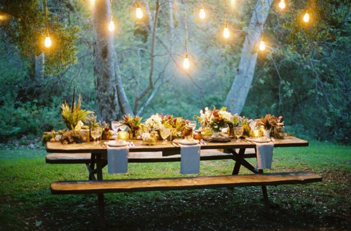 dekoration 30 geburtstag, wenn sie keinen garten haben, könnten sie die feier in einem park oder im wald gestalten picknick