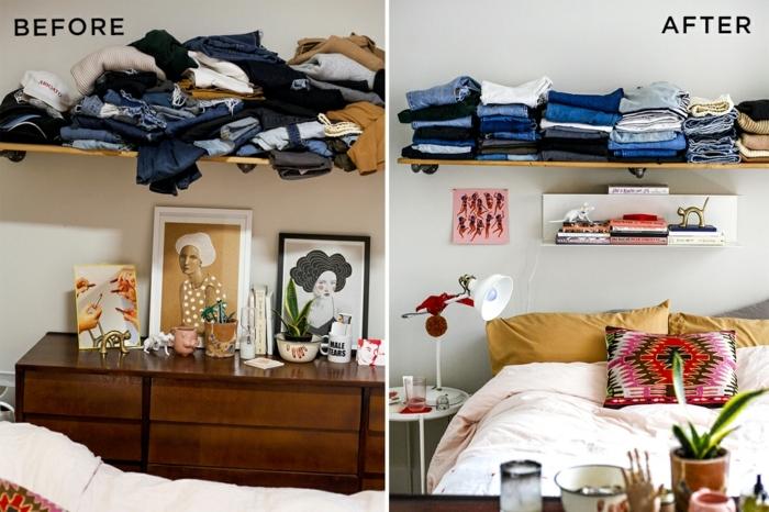 schlafzimmer farben feng shui, das zimmer schön aufräumen, coole ideen zum dekorieren