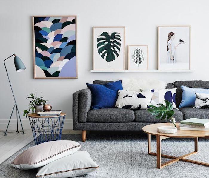 welche farbe passt zu lila oder blau, elemente zum akzentuieren vom schönen wohndesign, blaue deko, lila elemente, moderne wohnzimmer