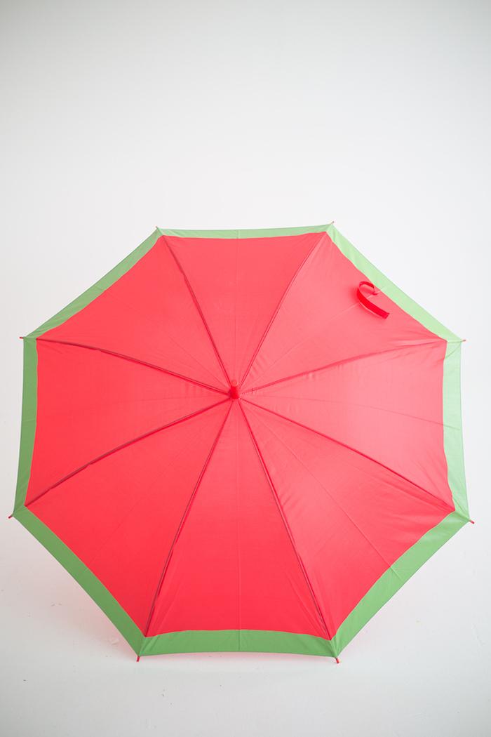 Wassermelone Regenschirm selbst gestalten, zweiter Schritt, Ideen für DIY Enthusiasten
