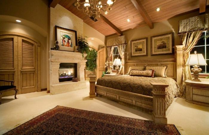 schlafzimmer bild über bett, viele bilder im zimmer, raumgestaltung idee, traumteppich, orientalisch
