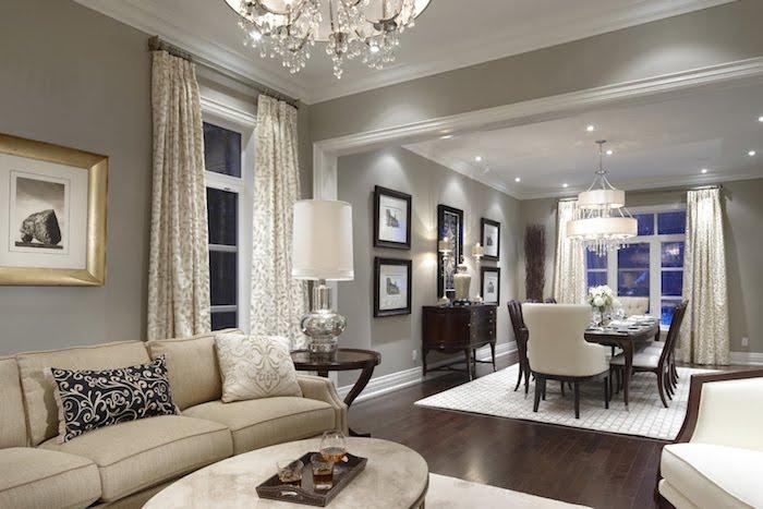 welche farben passen zusammen wohnen mit stil, einfaches zimmerdesign, dezent und elegant, beige, weiß, golden
