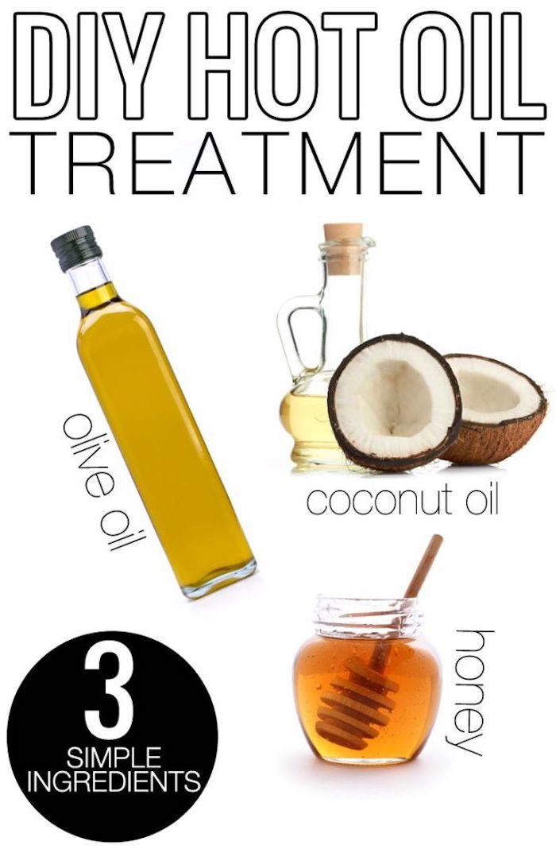 wie wachsen meine haare schneller, behaldlung mit warmen ölen, olivenöl, kokosöl, honig