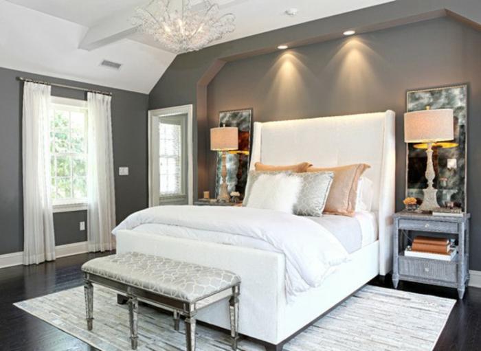 zimmer ideen zum einrichten und gestalten grau und weiß, welche farbe fürs schlafzimmer, grau und weiß