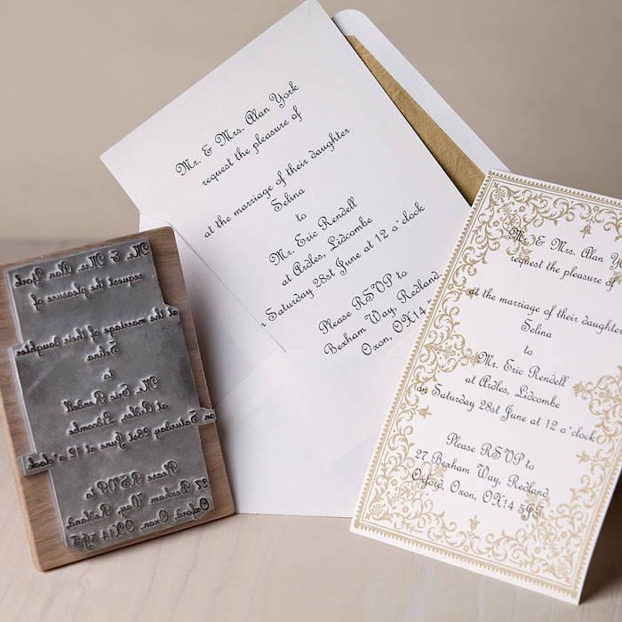 hochzeitseinladungen selber machen, großer stempel für einladungskarten, papier stempeln