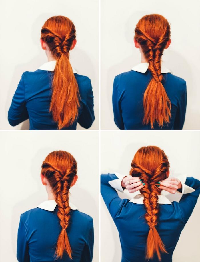 Anleitung für leichte und schöne Abiball Frisur in vier Schritten, auch für den Alltag